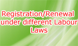Registration/Renewal under different Labour Laws